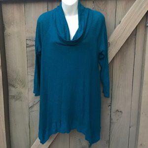 Maurices teal cowl neck top size L